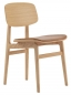 Preview: Norr11 NY11 Dining Chair, Natural, Vintage Leder