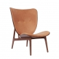 Preview: elephant chair, dark stained, cognac