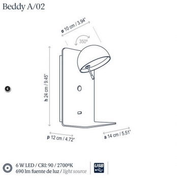 Bover BEDDY A/02 white