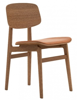 Norr11 NY11 Dining Chair, Smoked Oak, Leder