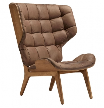 Norr11 Mammoth Chair Smoked Oak Vintage Leather