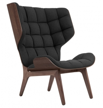 Norr11 Mammoth Chair Dark Stained, Wool