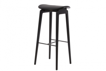 Norr11 NY11 Bar Chair Black, Leather