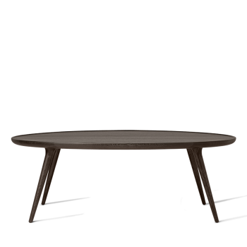 Mater Accent Oval Lounge Table, weiss