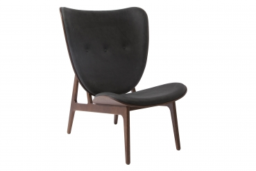 elephant chair, dark stained, anthracite