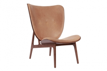 elephant chair, dark stained, camel