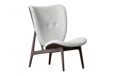 Norr11 Elephant Chair Dark Stained, Sheepskin