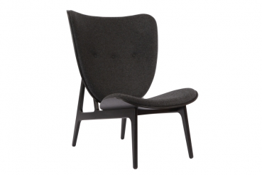 mammoth chair, dark stained, dark coal