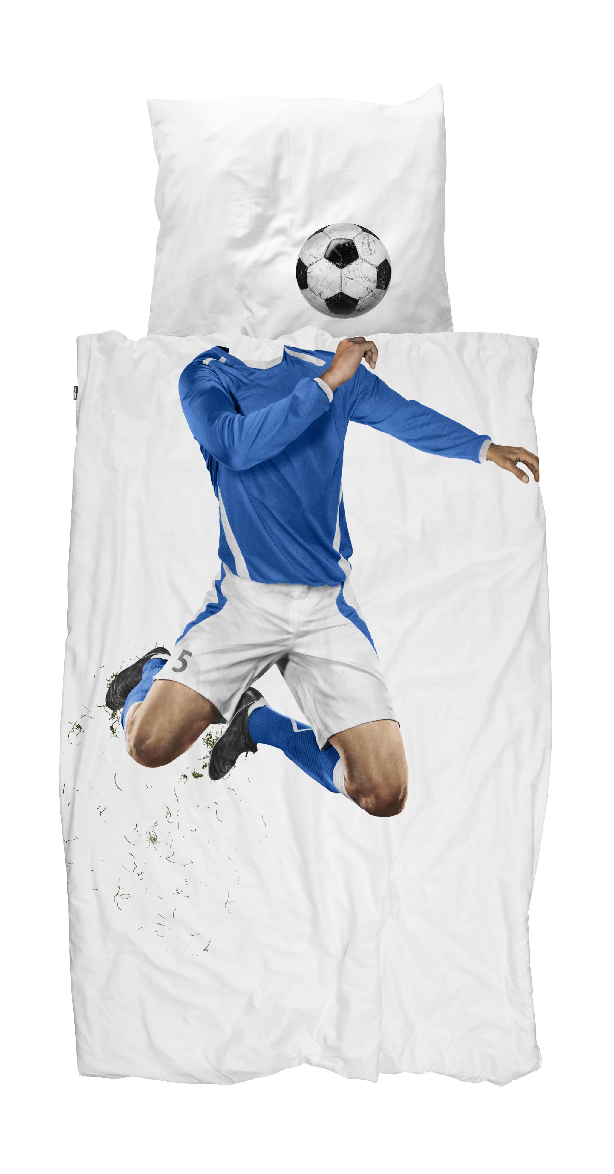 Snurk Kinder Bettwasche Fussball Blau