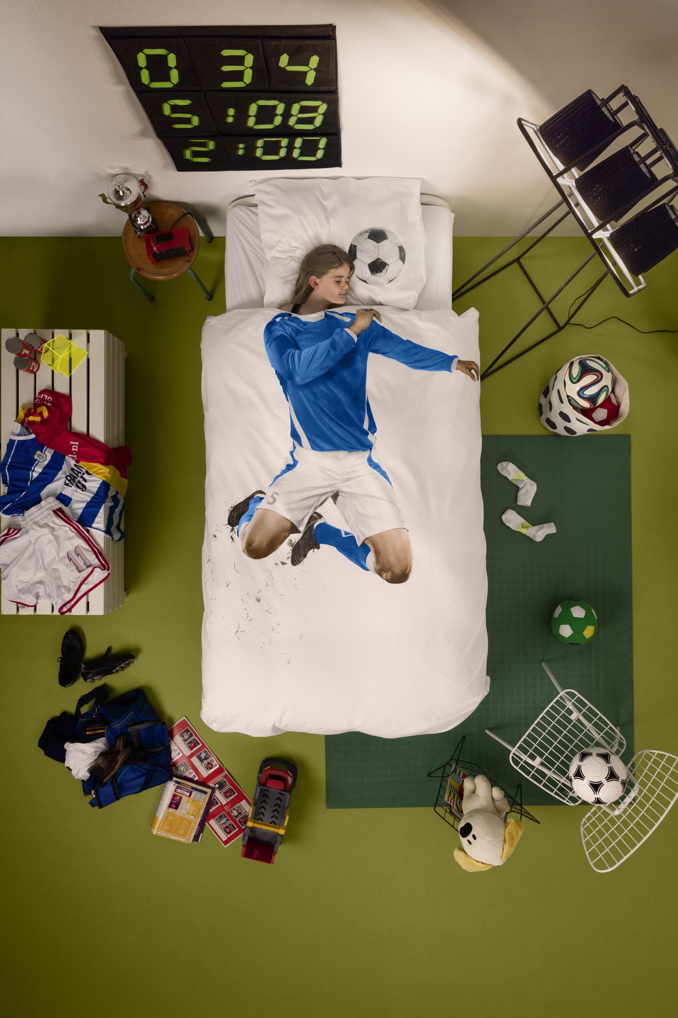 Ammann Raumgestaltung Kinder Bettwäsche Fussball Rot