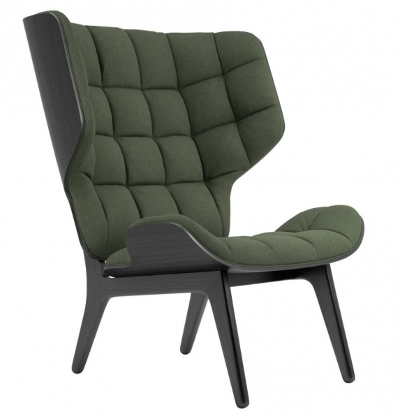 Norr11 Mammoth Chair Black, Wool