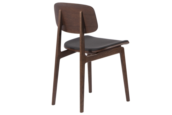 Norr11 NY11 Dining Chair, Dark Stained, Leder