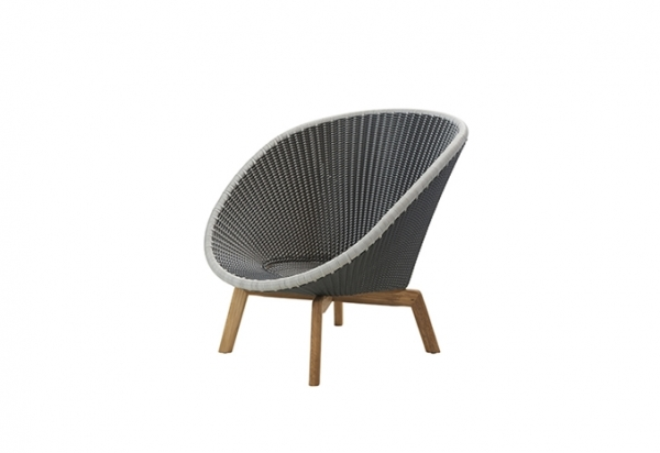 Cane-Line Peacock lounge Sessel m/Teak Beine