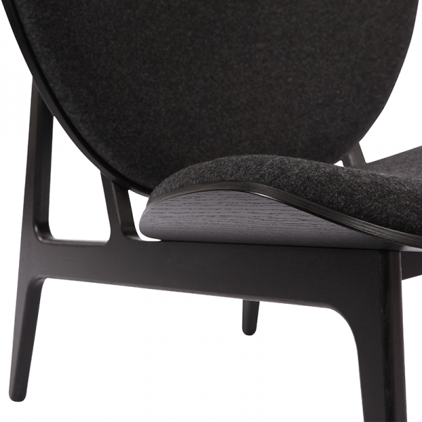 Norr11 Elephant Chair Dark Stained, Wool