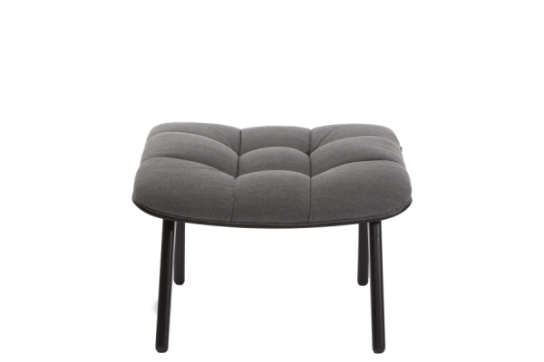 Norr11 Mammoth Ottoman Black, Canvas